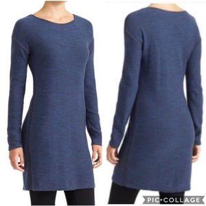 EUC Athleta Blue Marled Retreat sweater dress